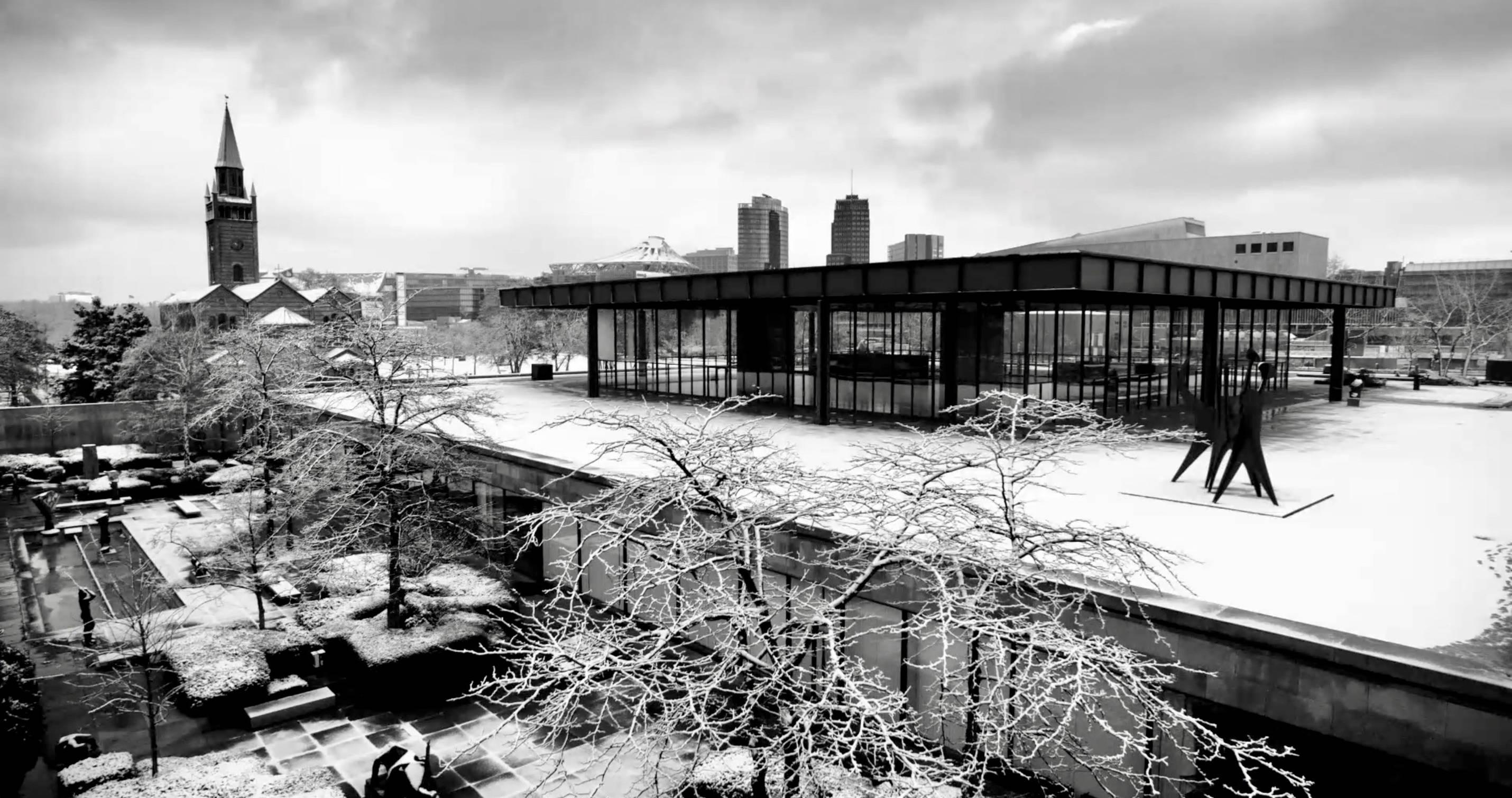 Architekturbild der neuen Nationalgalerie - ein Film von Ina Weisse - Kamera Judith Kaufmann